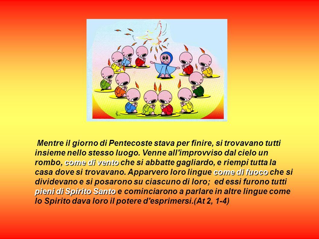 Mentre il giorno di Pentecoste stava per finire, si trovavano tutti insieme nello stesso luogo.