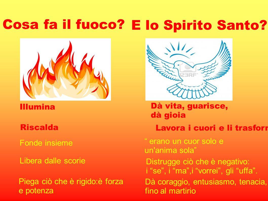 Cosa fa il fuoco E lo Spirito Santo Dà vita, guarisce, Illumina