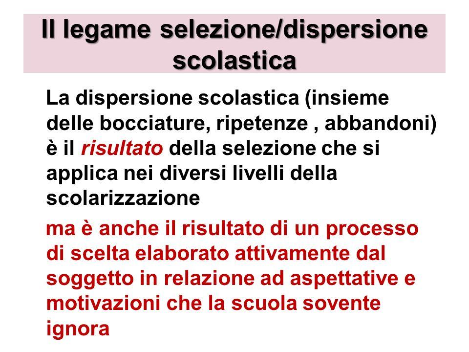 Il legame selezione/dispersione scolastica