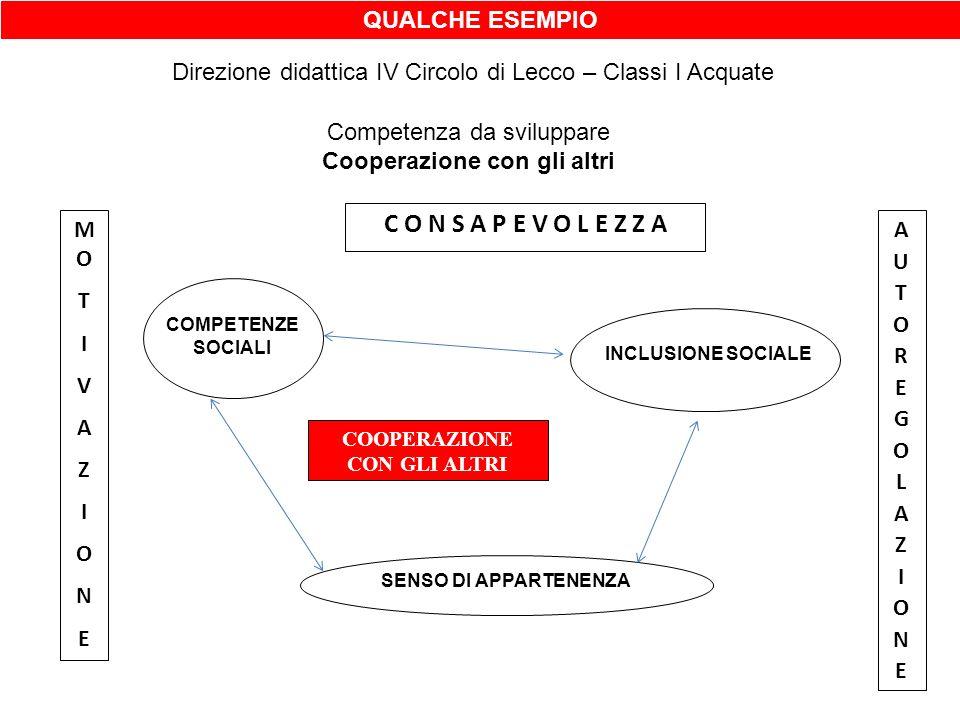 Cooperazione con gli altri COOPERAZIONE CON GLI ALTRI