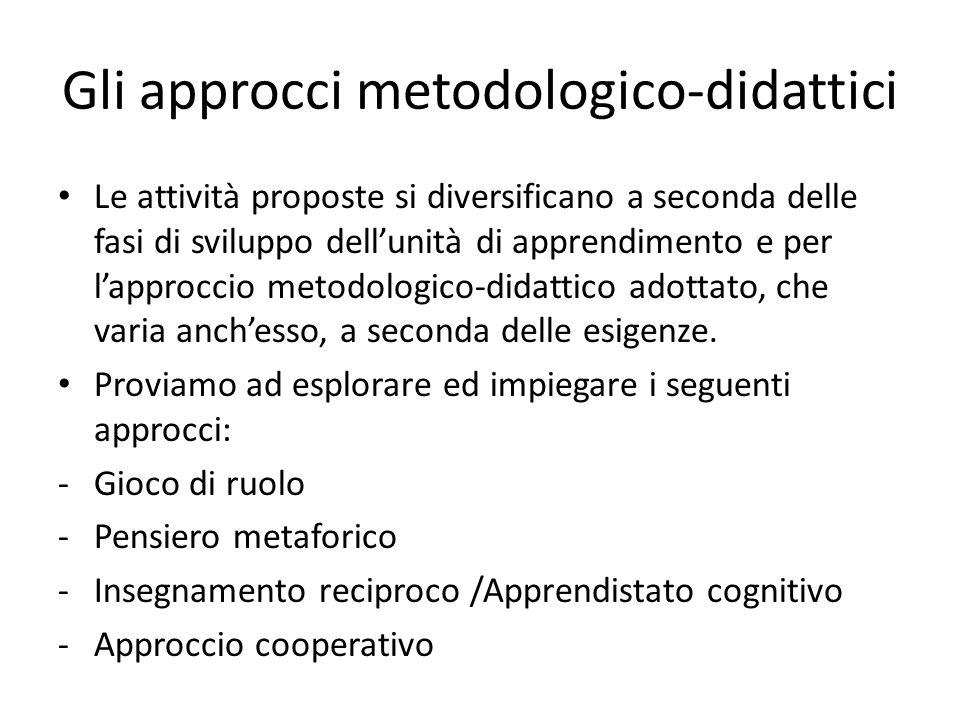 Gli approcci metodologico-didattici