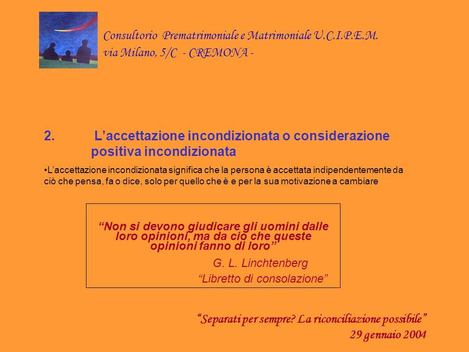 Separati per sempre La riconciliazione possibile 29 gennaio 2004
