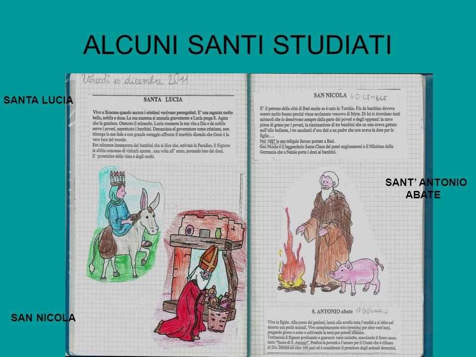 ALCUNI SANTI STUDIATI SANTA LUCIA SANT' ANTONIO ABATE SAN NICOLA