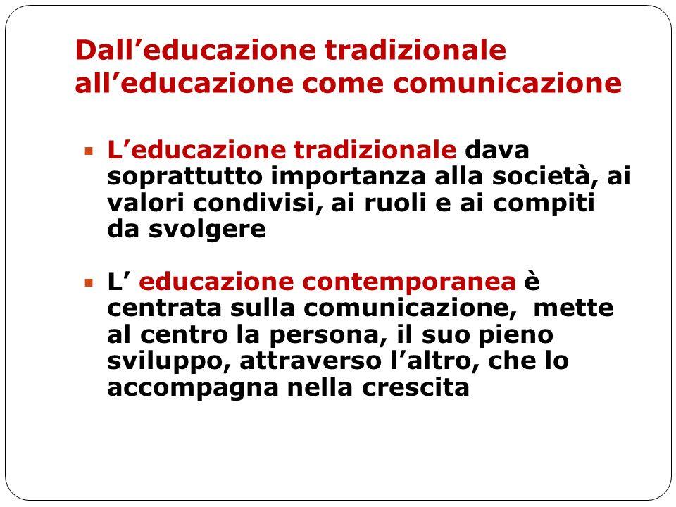 Dall'educazione tradizionale all'educazione come comunicazione