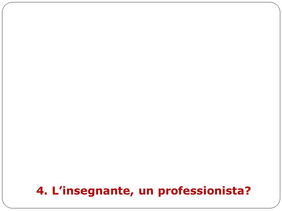 4. L'insegnante, un professionista