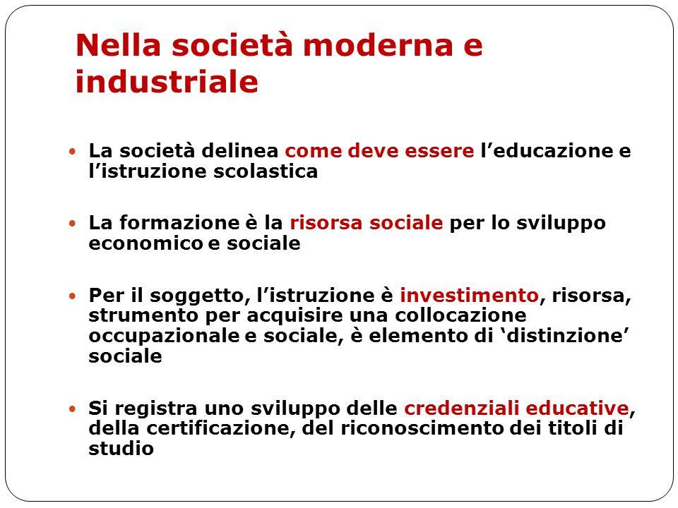 Nella società moderna e industriale