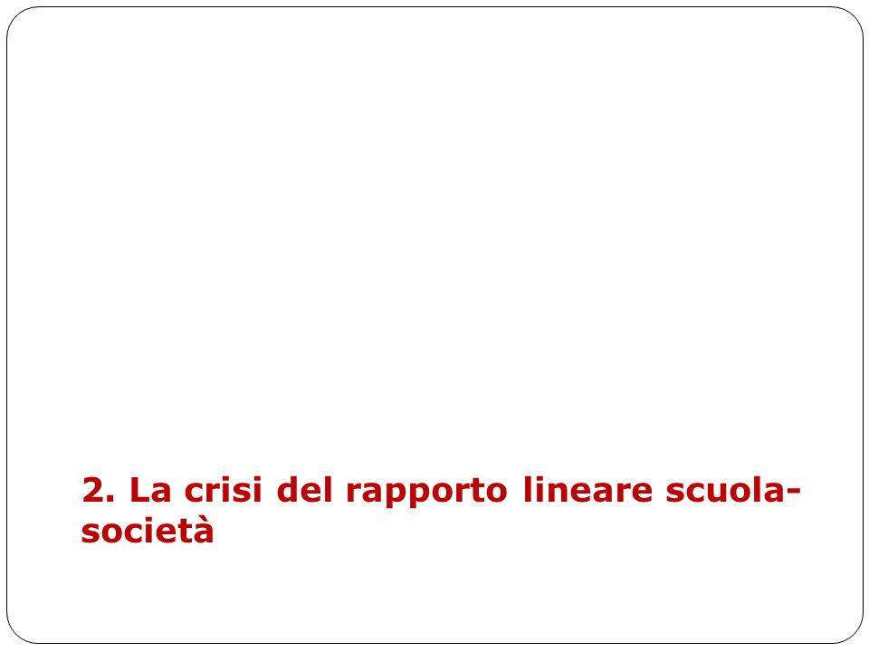 2. La crisi del rapporto lineare scuola-società