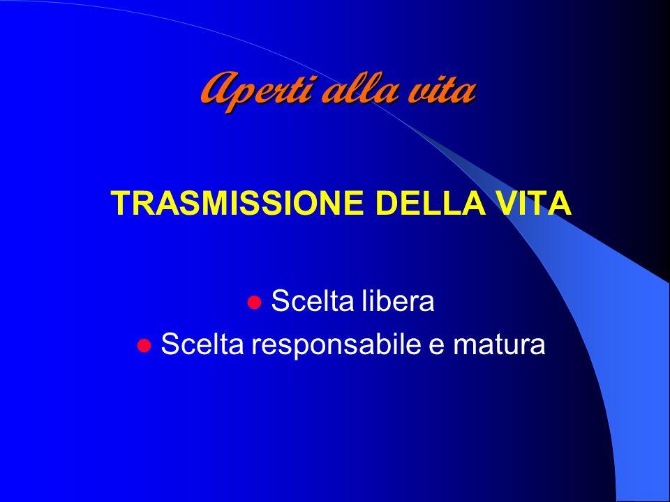 TRASMISSIONE DELLA VITA