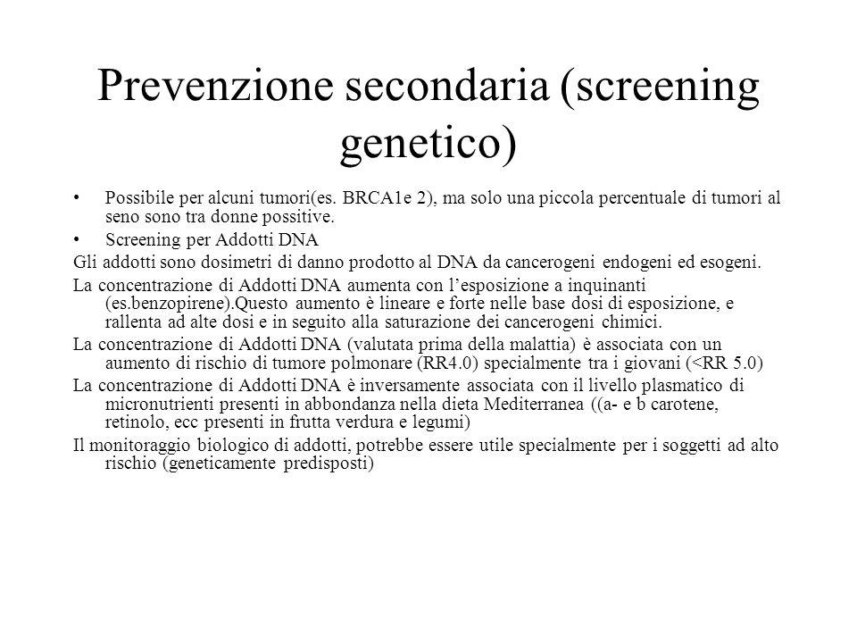Prevenzione secondaria (screening genetico)