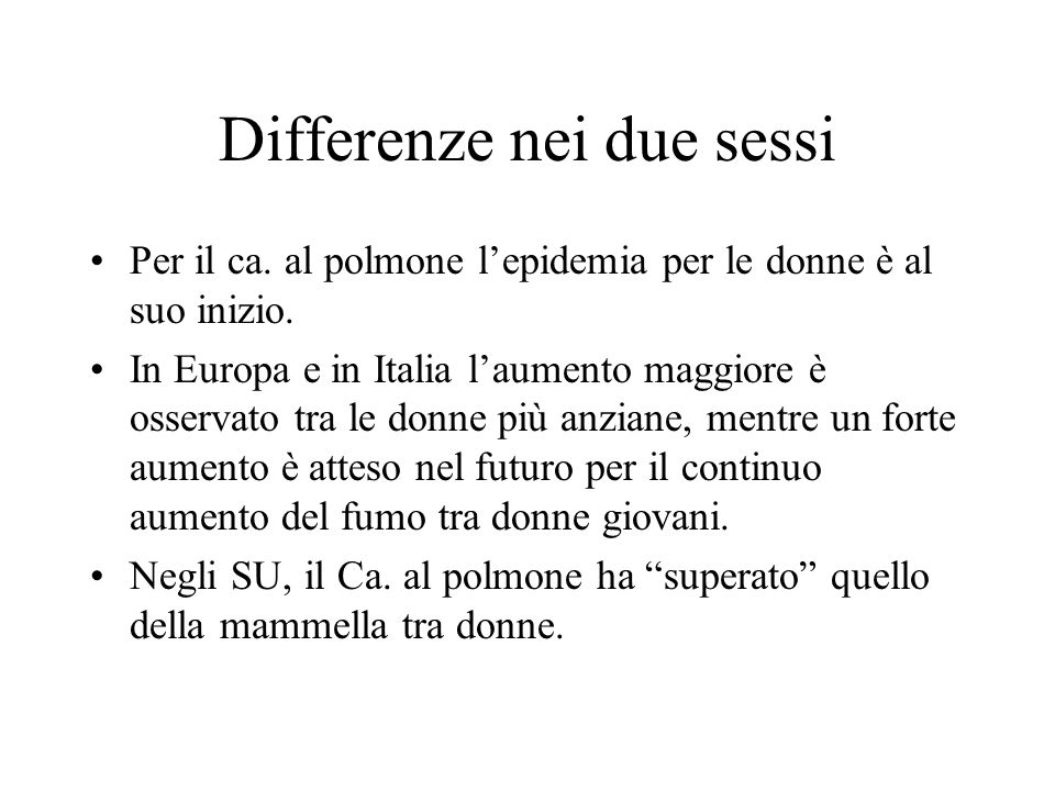 Differenze nei due sessi