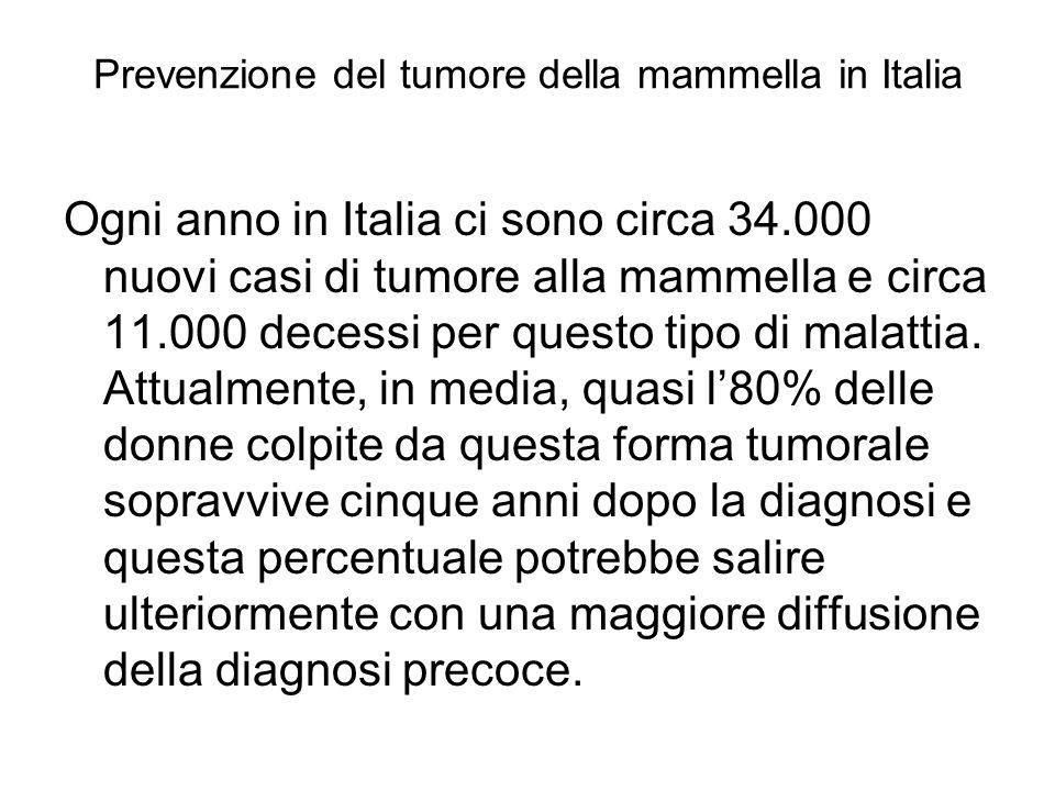Prevenzione del tumore della mammella in Italia