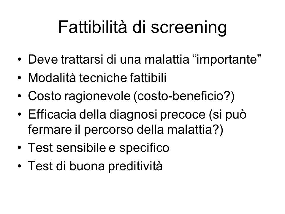 Fattibilità di screening