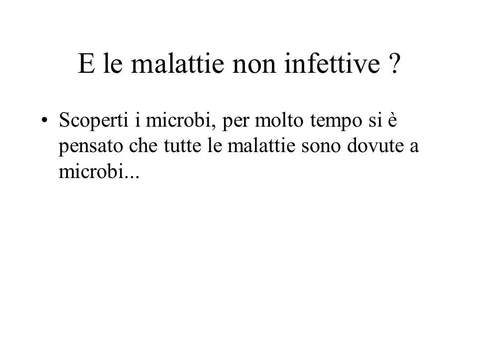 E le malattie non infettive