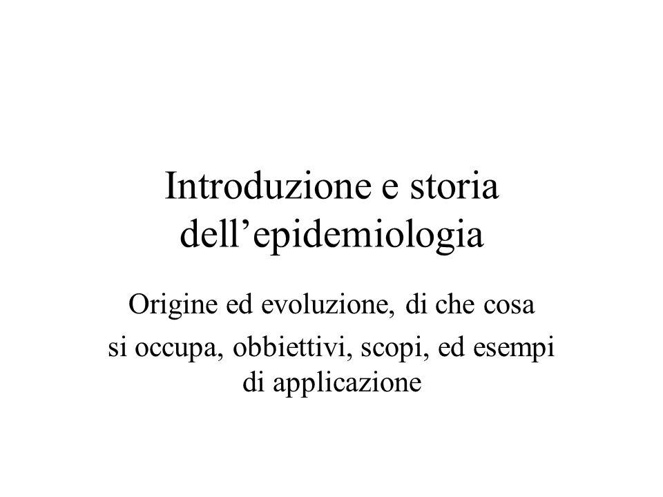 Introduzione e storia dell'epidemiologia
