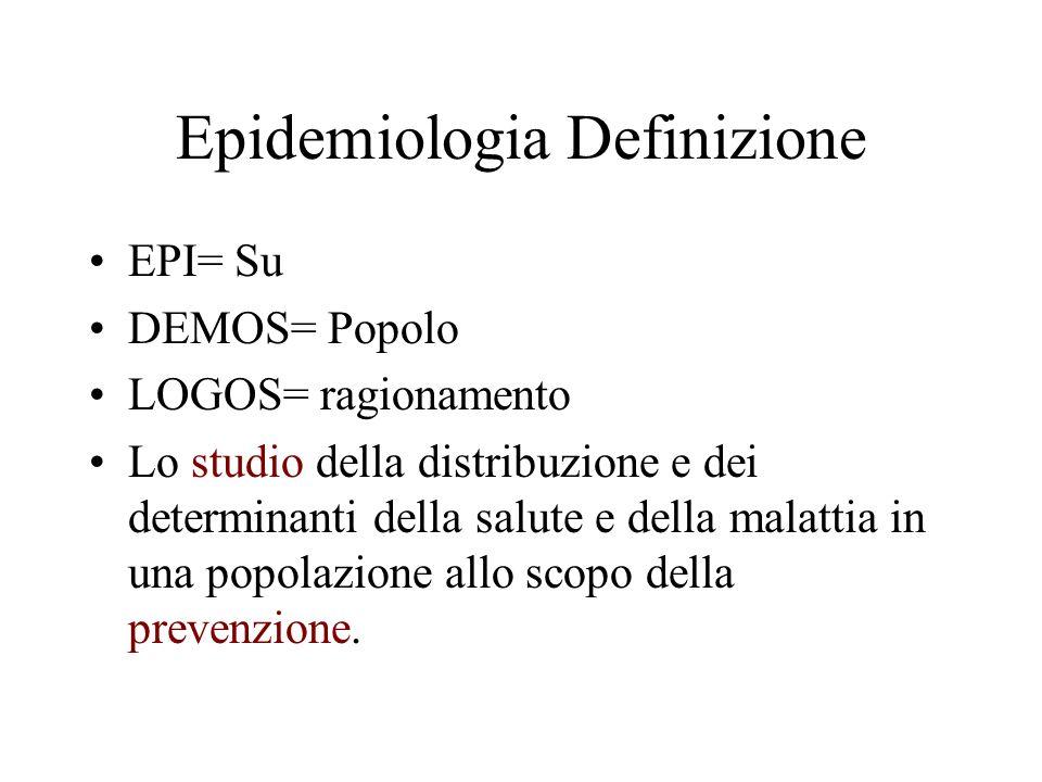 Epidemiologia Definizione