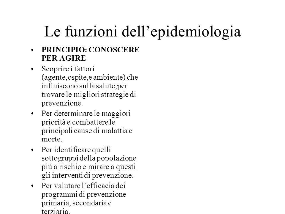 Le funzioni dell'epidemiologia