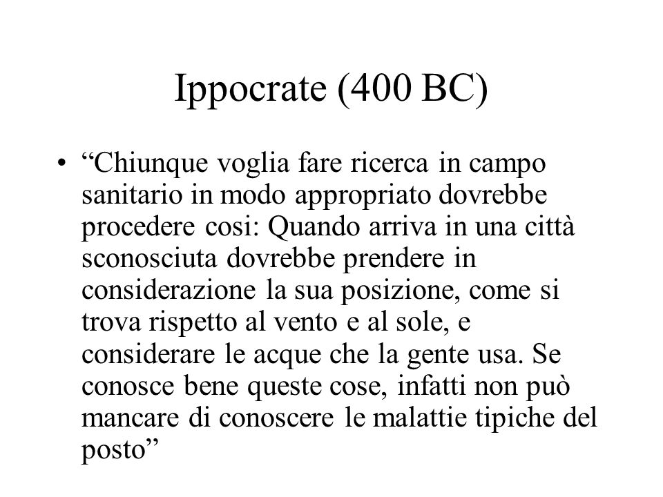 Ippocrate (400 BC)