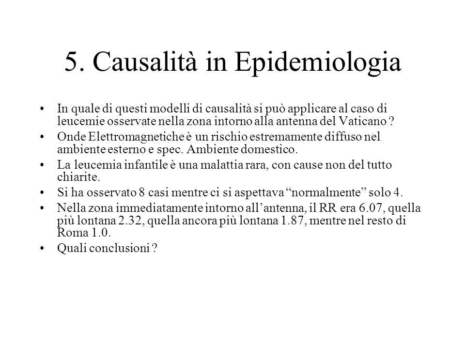 5. Causalità in Epidemiologia
