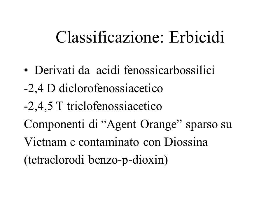 Classificazione: Erbicidi