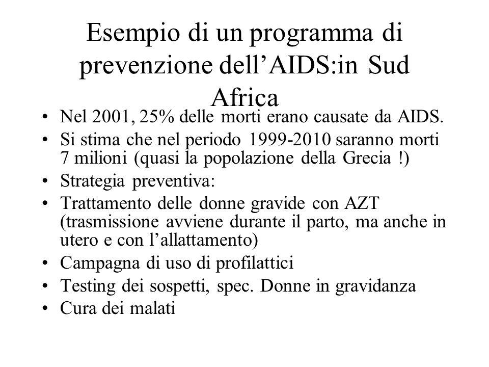 Esempio di un programma di prevenzione dell'AIDS:in Sud Africa
