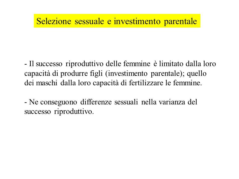 Selezione sessuale e investimento parentale