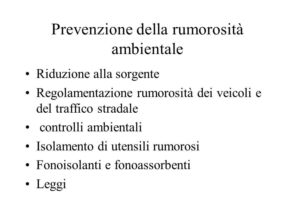 Prevenzione della rumorosità ambientale