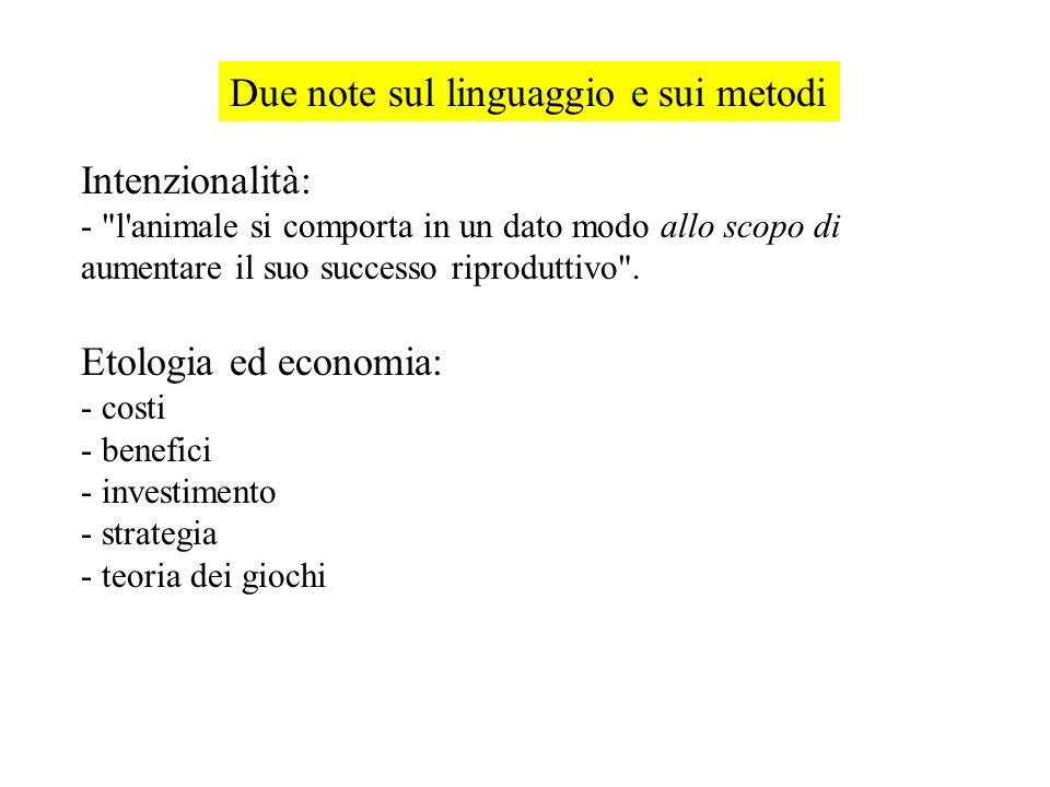 Due note sul linguaggio e sui metodi