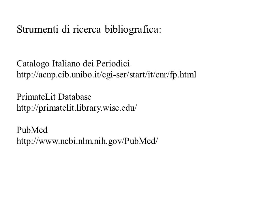 Strumenti di ricerca bibliografica: