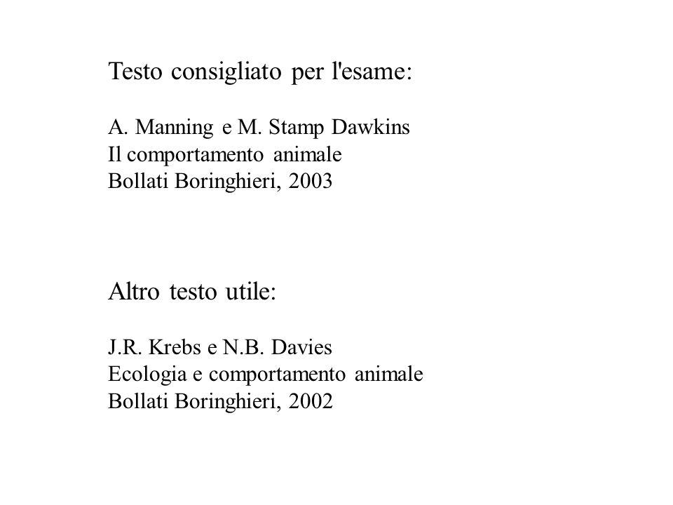 Testo consigliato per l esame:
