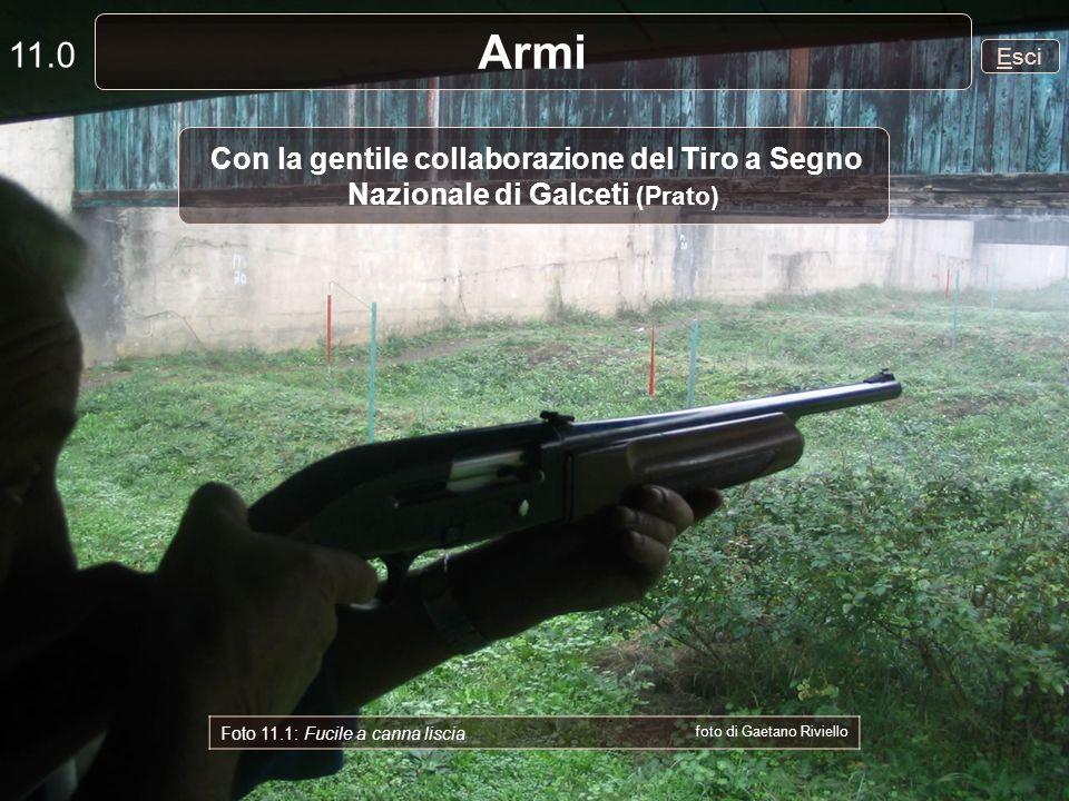 11.0 Armi. Esci. Con la gentile collaborazione del Tiro a Segno Nazionale di Galceti (Prato) Foto 11.1: Fucile a canna liscia.