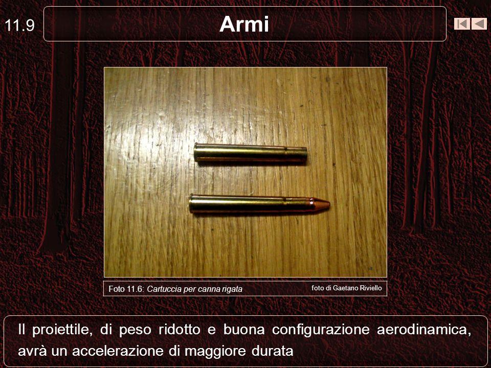 11.9 Armi. Foto 11.6: Cartuccia per canna rigata. foto di Gaetano Riviello.