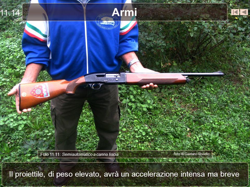 11.14 Armi. Foto 11.11: Semiautomatico a canna liscia. foto di Gaetano Riviello.