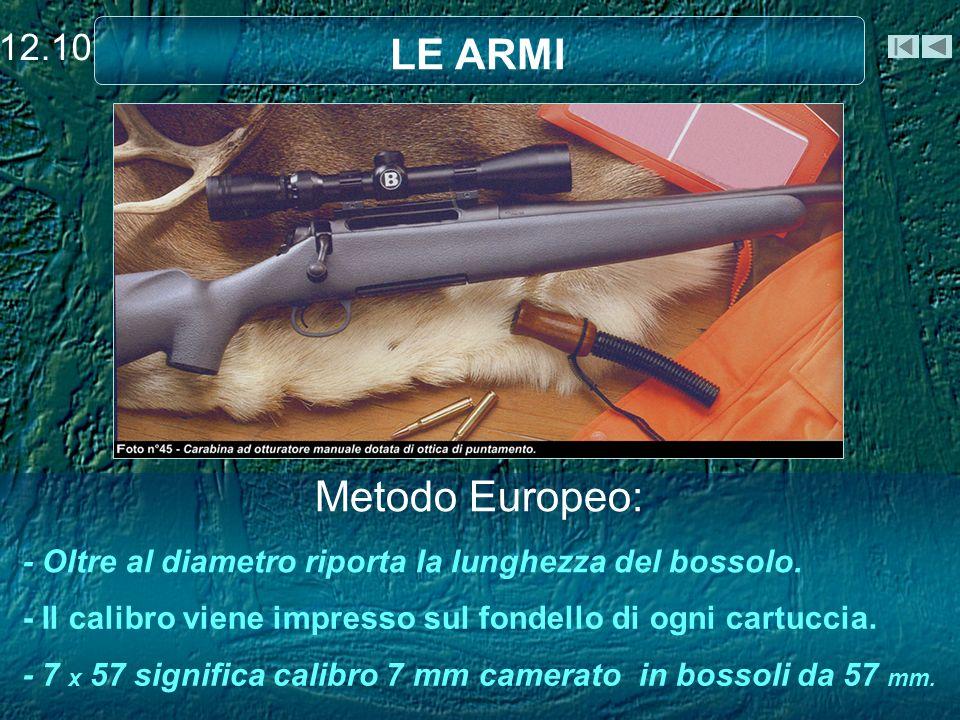 LE ARMI Metodo Europeo: 12.10