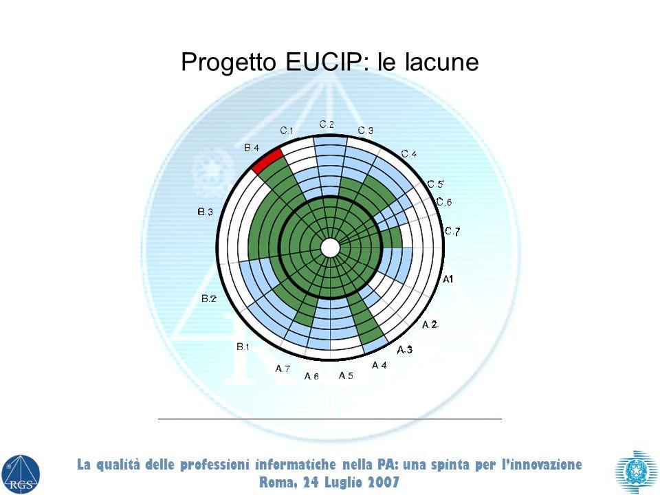Progetto EUCIP: le lacune