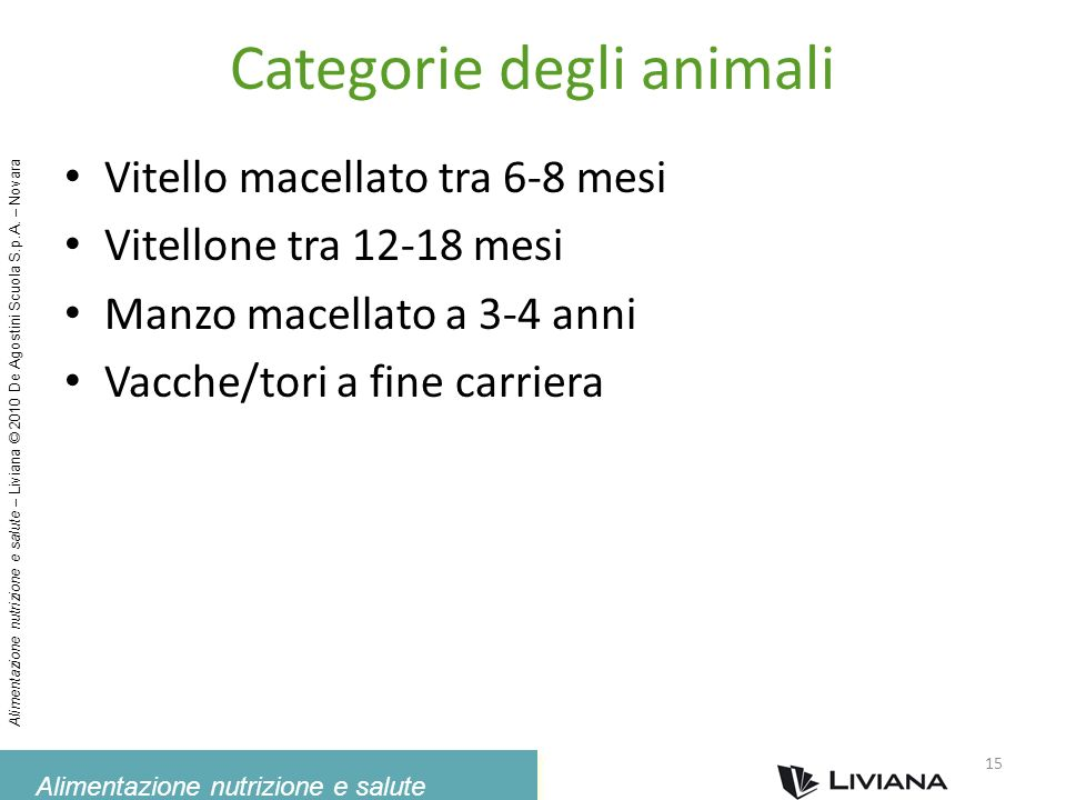 Categorie degli animali