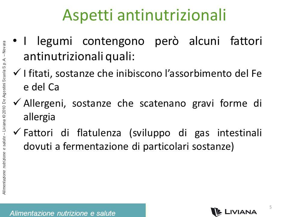Aspetti antinutrizionali