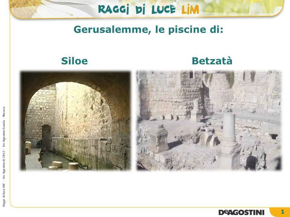 Gerusalemme, le piscine di: