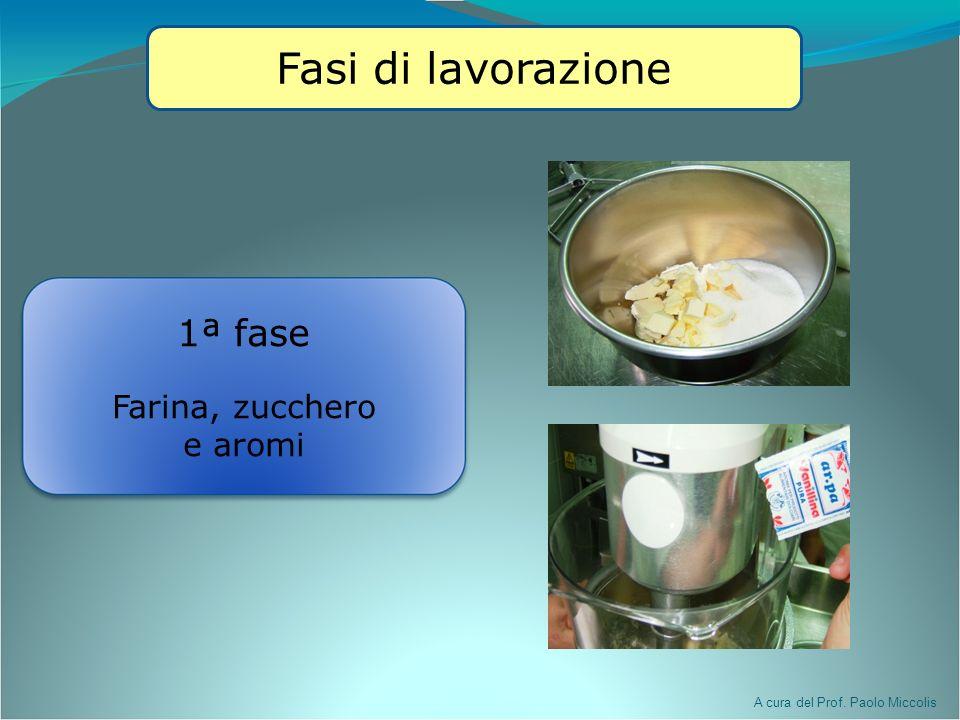 Fasi di lavorazione 1ª fase Farina, zucchero e aromi 16/03/09