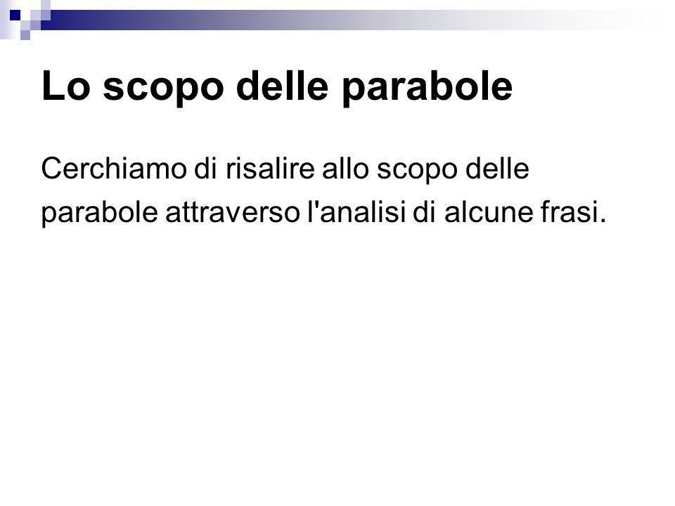 Lo scopo delle parabole