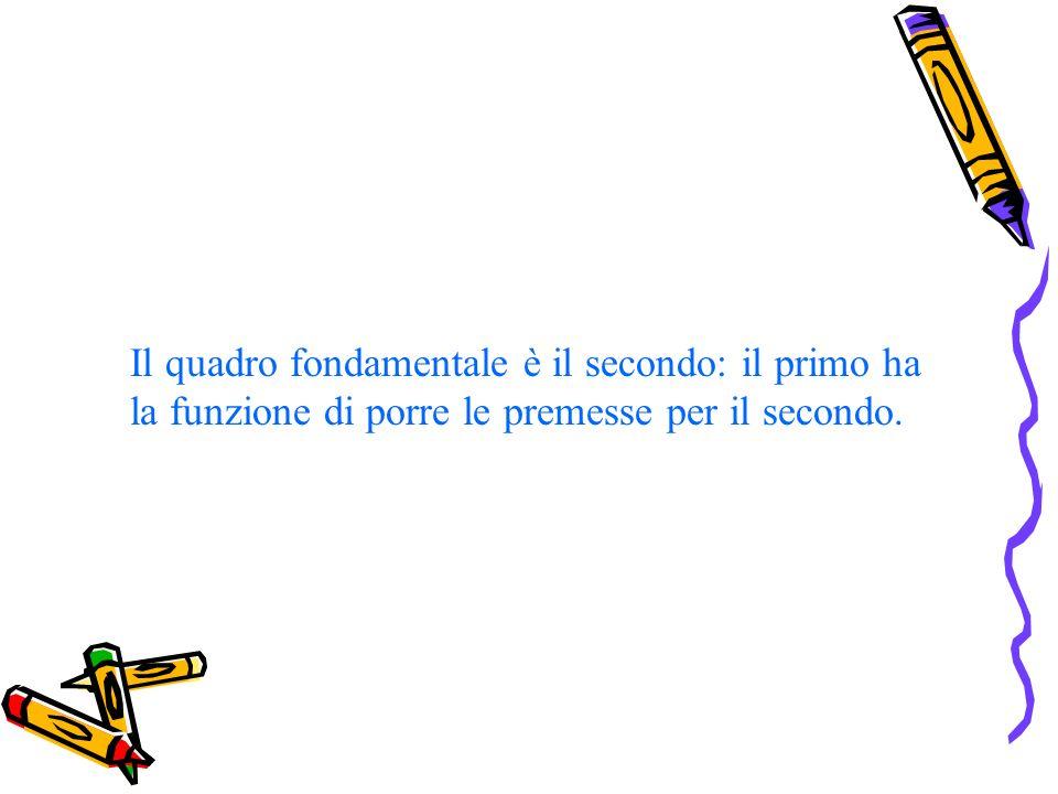Il quadro fondamentale è il secondo: il primo ha la funzione di porre le premesse per il secondo.