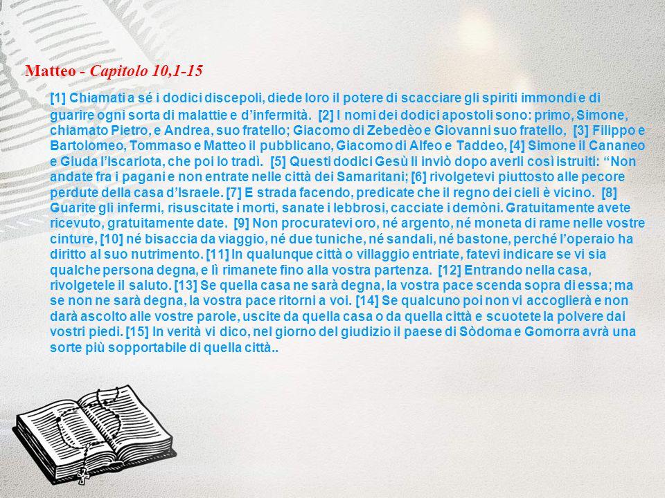 Matteo - Capitolo 10,1-15
