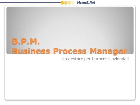B.P.M. Business Process Manager