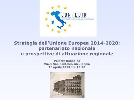 Strategia dell'Unione Europea : partenariato nazionale