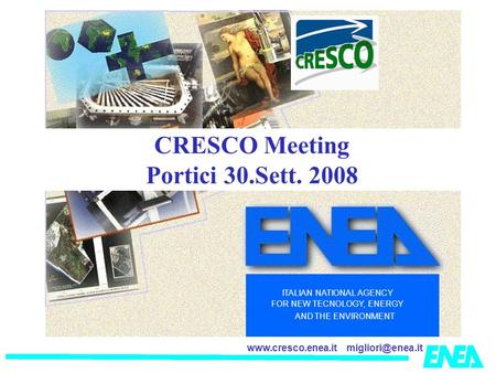CRESCO Meeting Portici 30.Sett. 2008