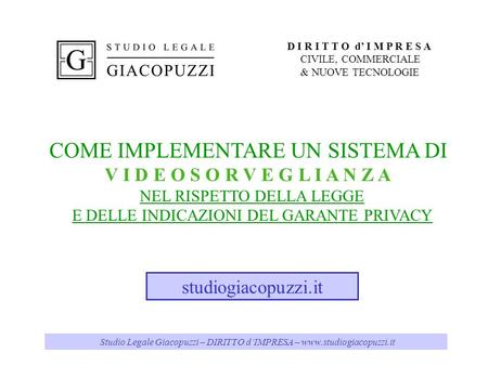 COME IMPLEMENTARE UN SISTEMA DI
