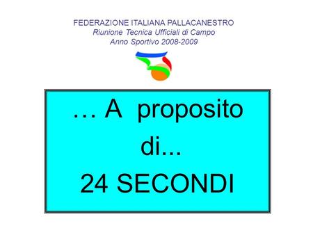 … A proposito di SECONDI