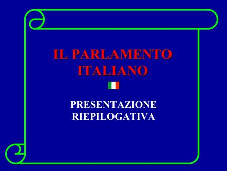 Il parlamento italiano ppt video online scaricare for Dove risiede il parlamento