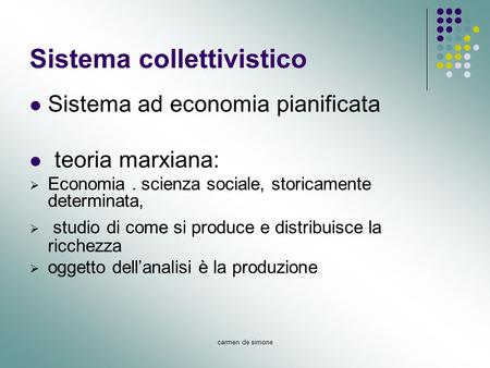 Sistema collettivistico