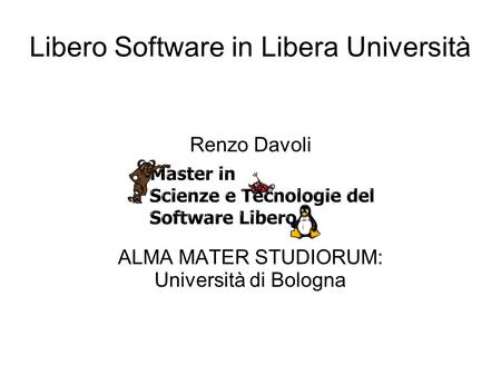Libero Software in Libera Università