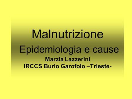 FACTs- Epidemiologia -cause